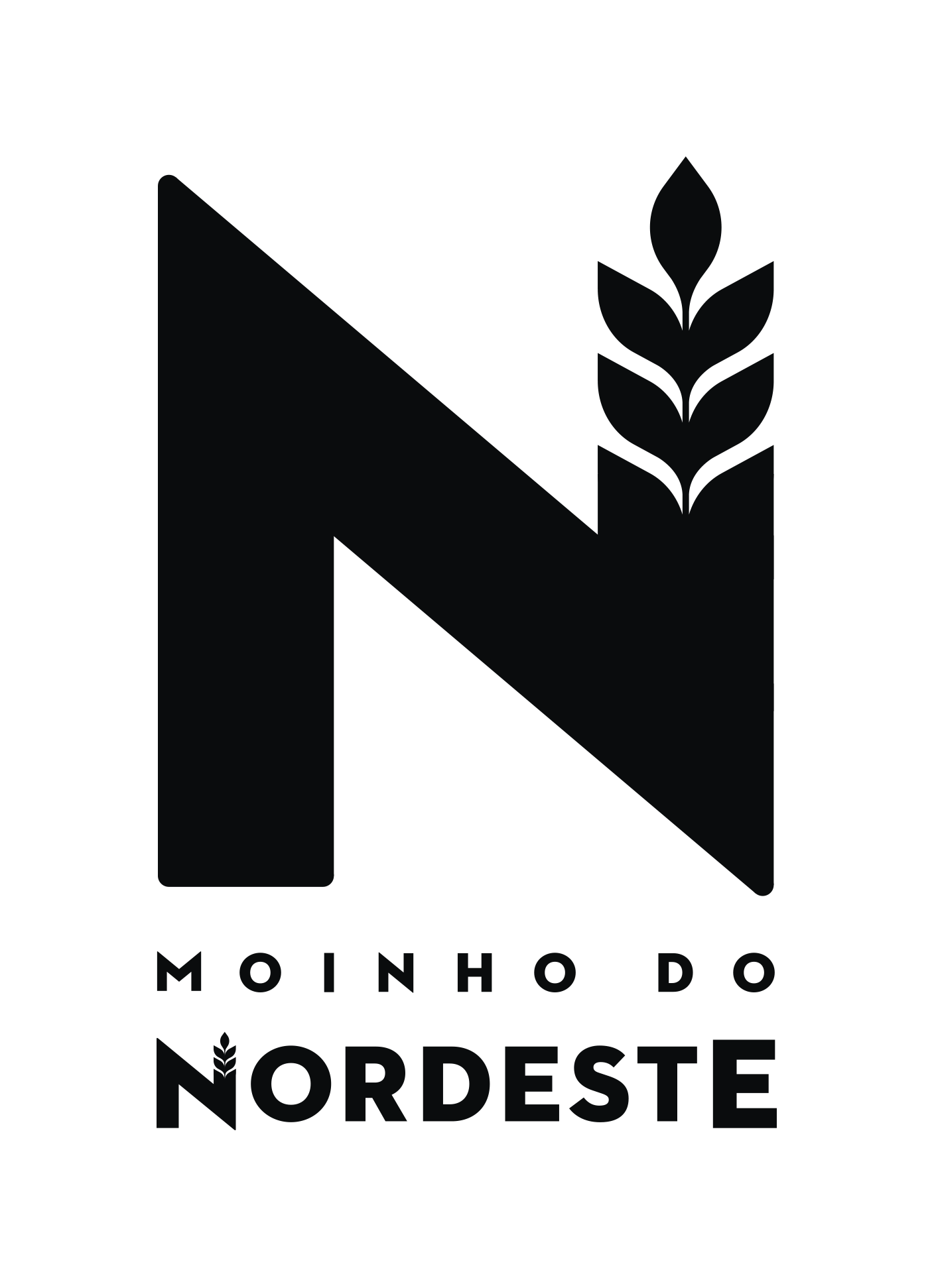 Logotipo Vertical Moinho do Nordeste